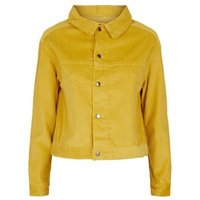 Sunshine Soul Mustard Cord Crop Jacket New Look