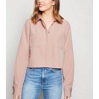 NA-KD Mid Pink Pocket Shirt New Look
