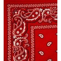 Red Paisley Print Bandana New Look