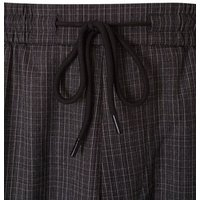 Dark Grey Check Pull On Trousers New Look