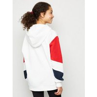 Girls White Portland Slogan Colour Block Hoodie New Look