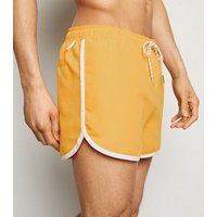 Yellow Runner Swim Shorts New Look