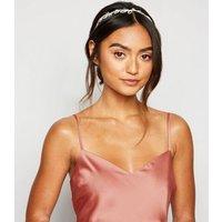 Petite Pale Pink Satin Frill Hem Midi Dress New Look