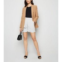 White Belted High Waist Shorts New Look