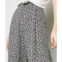 Petite Black Floral Crop Wide Leg Trousers New Look
