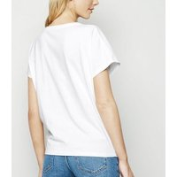 White Tie Front T-Shirt New Look