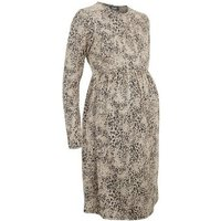 Maternity Off White Leopard Print Smock Dress New Look
