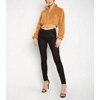NaaNaa Light Brown Teddy Crop Jacket New Look