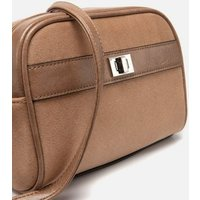 Mink Suedette Mini Cross Body Bag New Look