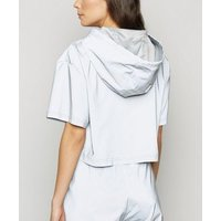 Noisy May Silver Reflective Top New Look