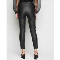 Parisian Black Leather-Look Split Front Trousers New Look