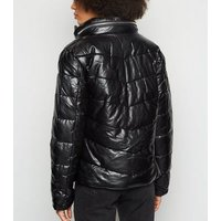 Parisian Black High Neck Puffer Jacket New Look
