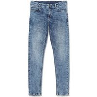 Bright Blue Acid Wash Skinny Stretch Jeans New Look