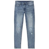 Pale Blue Distressed Skinny Stretch Jeans New Look