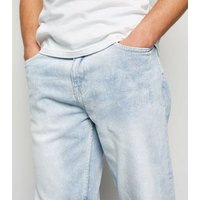 Pale Blue Light Wash Straight Leg Jeans New Look