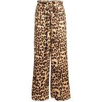 Miss Attire Brown Leopard Print Wide Leg Trousers New Look