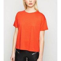 Orange Boxy Cotton T-Shirt New Look