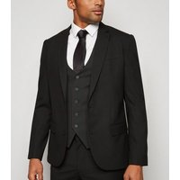 Black Button Up Waistcoat New Look
