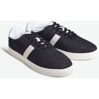 Black Suedette Side Stripe Trainers New Look