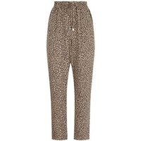 Brown Animal Print Joggers New Look