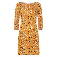StylistPick Orange Animal Print Dress New Look