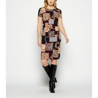 StylistPick Black Chain Print Jersey Dress New Look