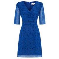 StylistPick Blue Star Wrap Dress New Look