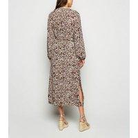 Brown Leopard Print Cuffed Beach Kimono New Look