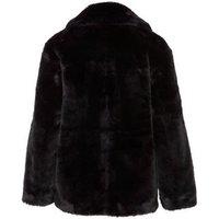 Black Faux Fur Coat New Look