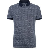 Mens Bellfield Navy Jacquard Polo Shirt New Look