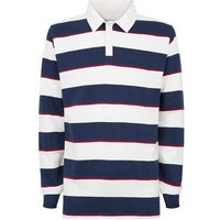 Bellfield White Stripe Rugby Shirt New Look
