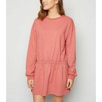 NA-KD Mid Pink Jersey Jumper Dress New Look