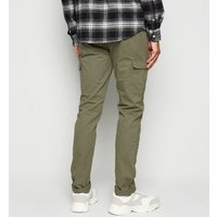Bellfield Khaki Cargo Trousers New Look