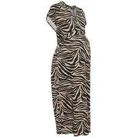 Maternity Brown Tiger Print Midi Tunic Dress New Look
