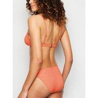 Bright Orange Tie Side Hipster Bikini Bottoms New Look