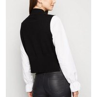 Cameo Rose Black 2 In 1 Knit Jumper New Look