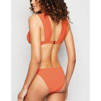 Coral Knot Triangle Bikini Top New Look