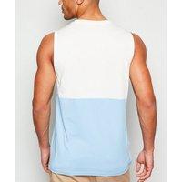 Bright Blue New Paradise Slogan Vest New Look