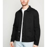 Black Utility Lightweight Jacket New Look