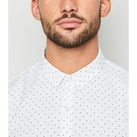 White Triangle Print Long Sleeve Shirt New Look