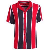Red Stripe Short Sleeve Shirt New Look