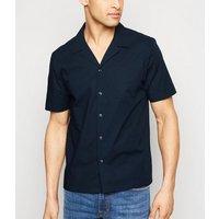 Navy Short Sleeve Poplin Shirt New Look
