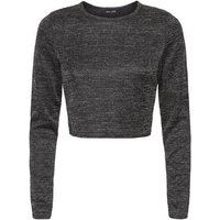 Dark Grey Fine Knit Crop Top New Look