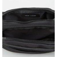 Black Nylon Rectangle Bum Bag New Look Vegan