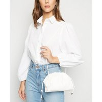 White Leather-Look Pouch Bag New Look