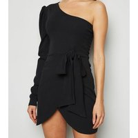 Missfiga Black One Shoulder Mini Dress New Look