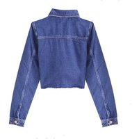 Girls Bright Blue Ripped Crop Denim Jacket New Look