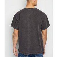 Dark Grey Horse Texas Slogan T-Shirt New Look
