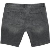 Men's Plus Size Black Skinny Stretch Denim Shorts New Look
