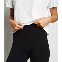 Black Jersey High Waist Leggings New Look
